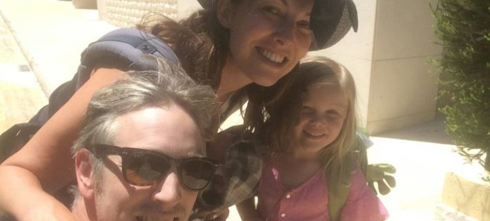 Tessa Marchington, managing director of Music in Offices with her family.